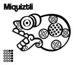 Disegno di I giorni Aztechi: morte Miquiztli da colorare