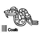 Disegno di I giorni Aztechi: serpente Coatl da colorare