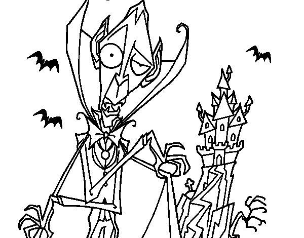 Disegno di Il conte Dracula da Colorare
