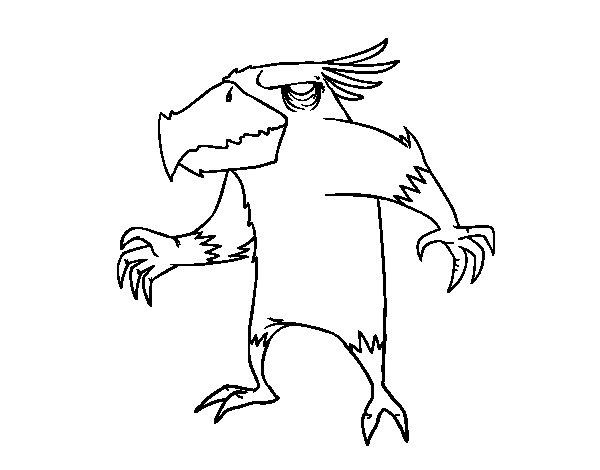 Disegno di Il male uccello mostro da Colorare