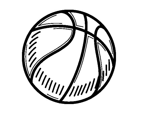 Disegno di Il pallone da pallacanestro da Colorare