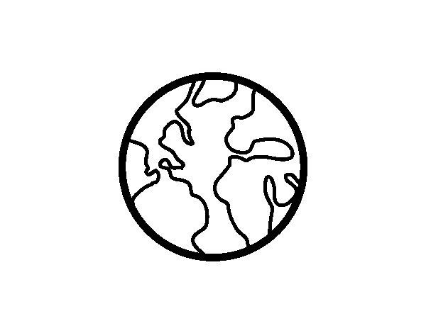 Disegno di Il pianeta Tierra da Colorare