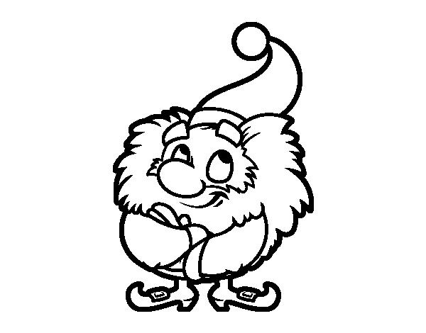 Piccolo Para Colorear: Disegno Di Il Piccolo Babbo Natale Da Colorare