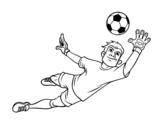 Disegno di Il portiere di calcio da colorare