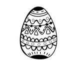 Disegno di Il uovo di Pasqua decorato da colorare