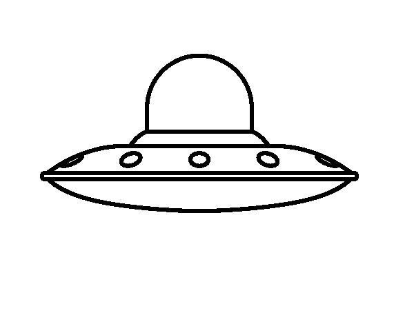Disegno di Invasive nave aliena da Colorare