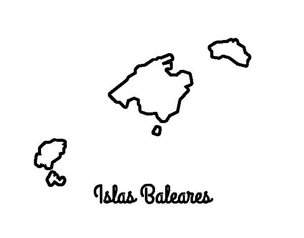 Disegno di Isole Baleari da Colorare