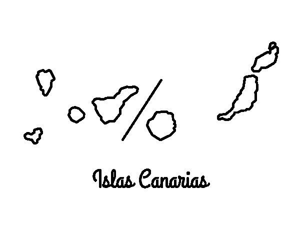 Disegno di Isole Canarie da Colorare