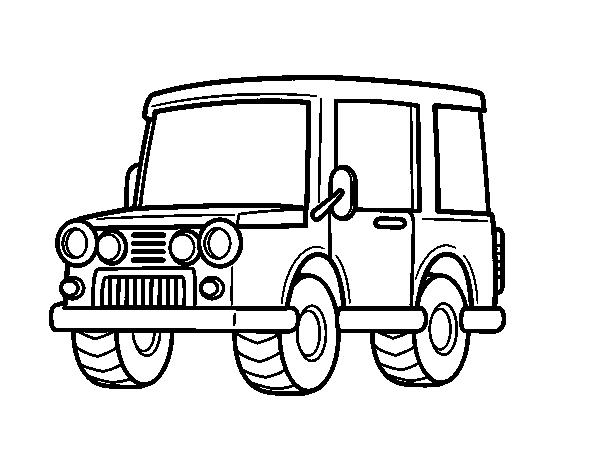 Disegno di jeep azienda da colorare for Jeep da colorare
