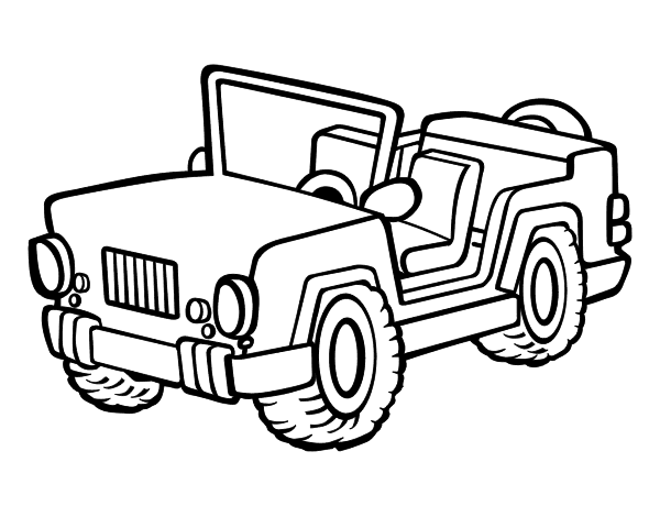 disegno di jeep da colorare