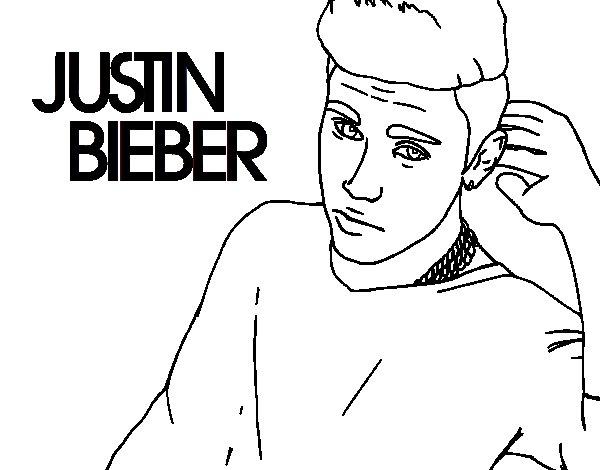 Disegno di Justin Bieber Popstar da Colorare