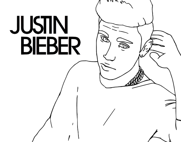 Disegno di Justin Bieber Popstar da Colorare - Acolore.com