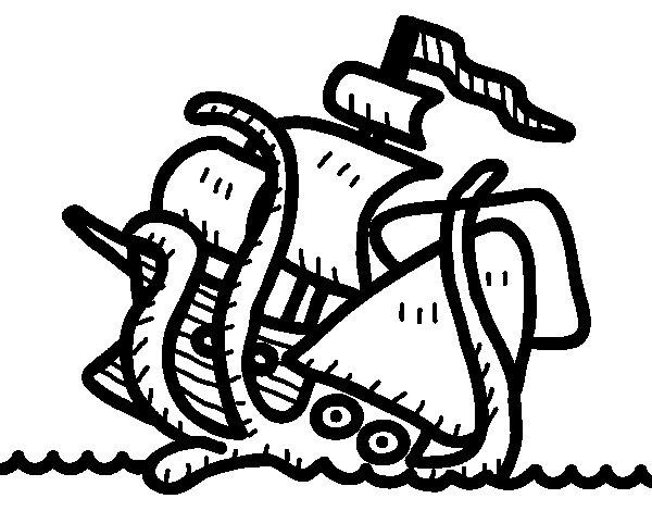 Disegno di Kraken da Colorare