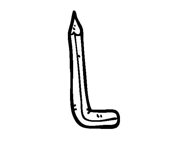 Disegno di L minuscola da Colorare