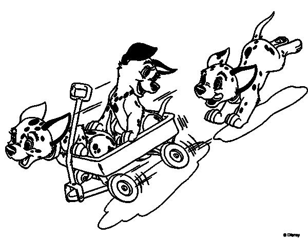 Disegno di la carica dei 101 cuccioli hanno divertimento for La carica dei 101 disegni da colorare