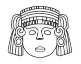 Disegno di La maschera messicana da colorare