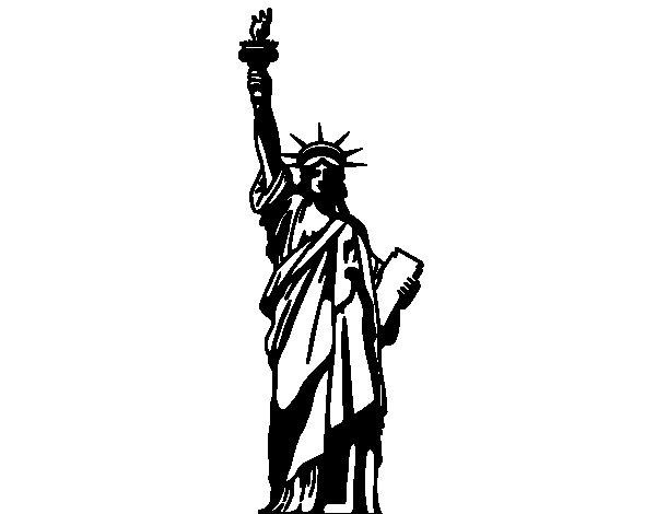 Disegno Di La Statua Della Libertà Da Colorare