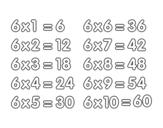 Dibujo de La Tavola di Moltiplicazione del 6