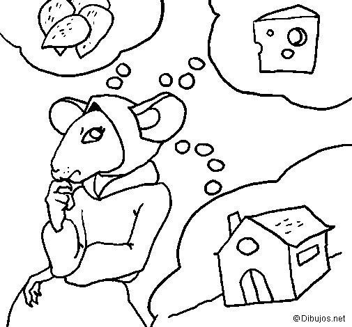 Disegno di La topolina civettuola 4 da Colorare