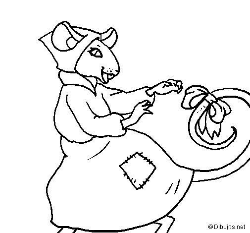 Disegno di La topolina civettuola 7 da Colorare