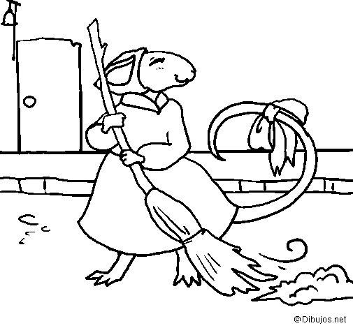 Disegno di La topolina civettuola 8 da Colorare