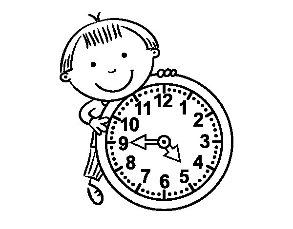 Disegno di Le ore da Colorare