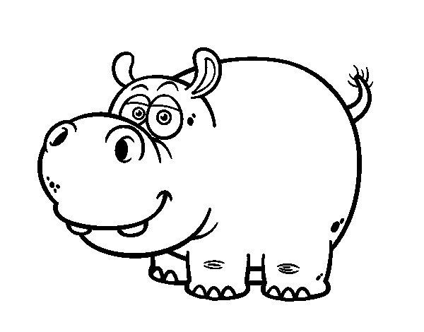 Disegno di L'ippopotamo da Colorare