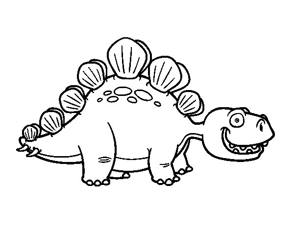 Disegno di Lo stegosauro da Colorare