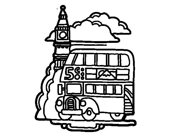 Disegno di londra da colorare for Disfare la valigia in inglese