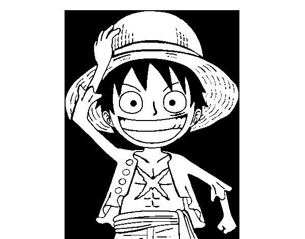 Disegno di Luffy da Colorare