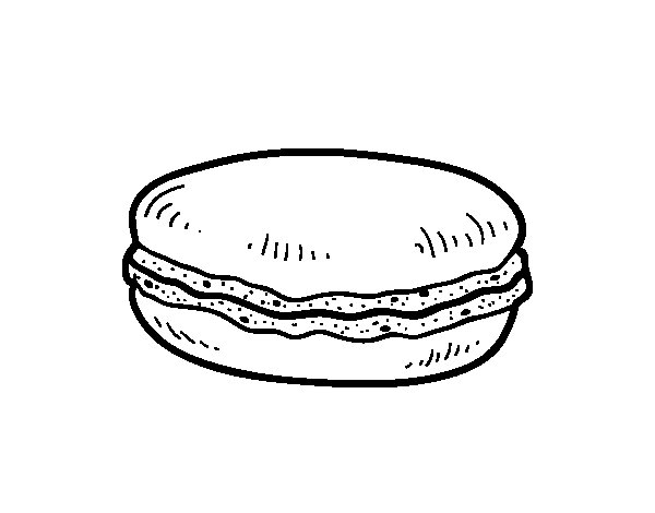 Disegno di Macaron da Colorare