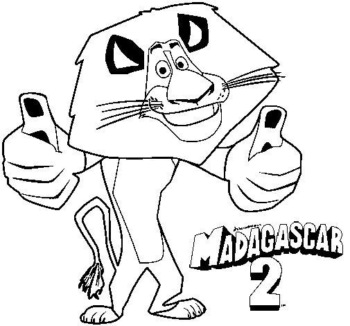 Disegno di Madagascar 2 Alex da Colorare