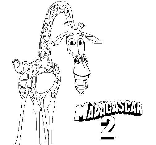 Disegno di Madagascar 2 Melman da Colorare