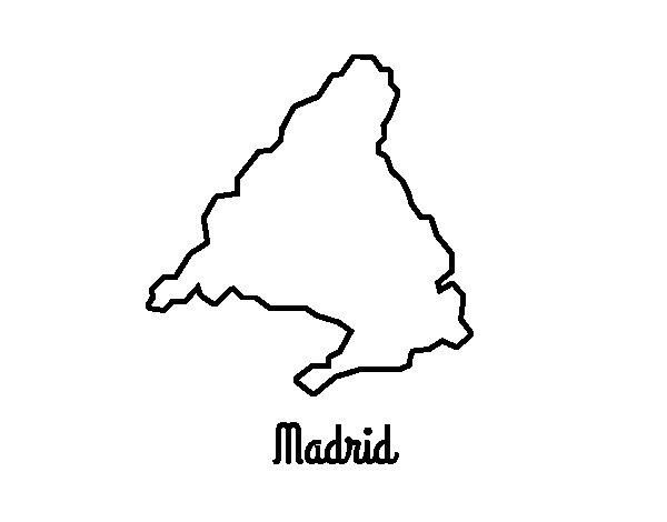 Disegno di Madrid da Colorare