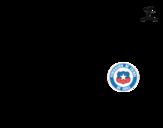 Disegno di Maglia dei mondiali di calcio 2014 del Cile da colorare