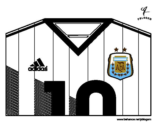 Disegno di maglia dei mondiali di calcio 2014 dell for Disegni da colorare calcio