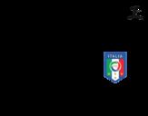 Disegno di Maglia dei mondiali di calcio 2014 dell'Italia da colorare