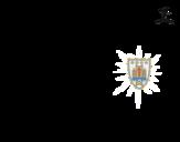 Disegno di Maglia dei mondiali di calcio 2014 dell'Uruguay da colorare
