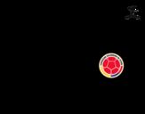 Disegno di Maglia dei mondiali di calcio 2014 della Colombia da colorare