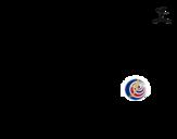 Disegno di Maglia dei mondiali di calcio 2014 della Costa Rica da colorare