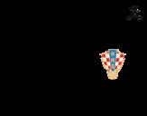 Disegno di Maglia dei mondiali di calcio 2014 della Croazia da colorare