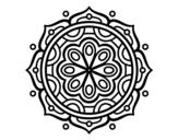 Disegno di Mandala a meditare da colorare