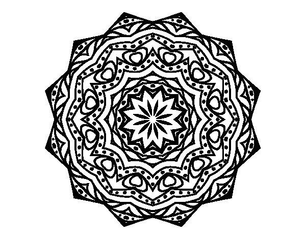 Disegno di Mandala con strato  da Colorare