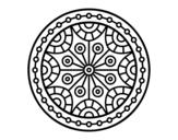 Disegno di Mandala equilibrio mentale da colorare