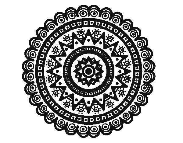 Disegno di Mandala etnica da Colorare