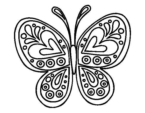 Disegno di Mandala farfalla da Colorare