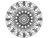 Disegno di Mandala fiore con cerchio da colorare