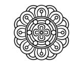Disegno di Mandala fiore creativo da colorare