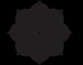 Disegno di Mandala fiore orientale da colorare