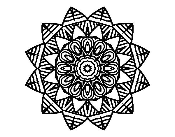 Disegno di Mandala frutta da Colorare
